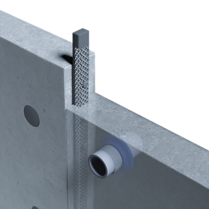 Montajul cordonului bentonici Bentobar+ pe rosturile verticale ale pereților diafragmă