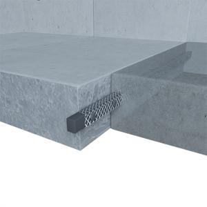 Montajul cordonului Bentonitic Bentobar+ între ploturile de radier cu Adeviz de fixare și Grilaj metalic de protecție