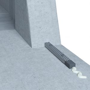 Montajul corect al cordonul bentonitic Bentobar+ cu Adeziv de fixare și Grilaj metalic de protecție