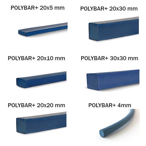 Gama variată de dimensiuni a profilului expandabil Polybar+ SaltWater: 20x5mm, 20x20mm, 20x20mm, 20x30mm, 30x30mm, fi 4mm